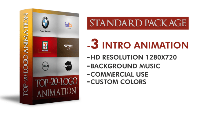 Standard package for logo animation