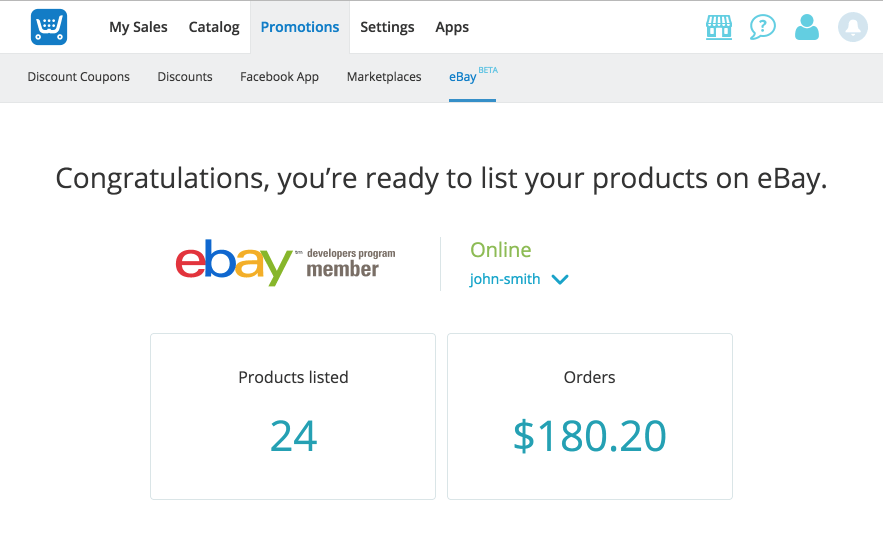 ebay dashboard