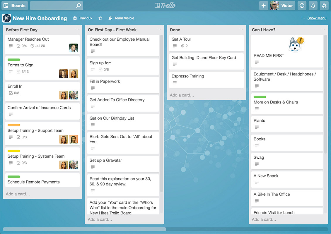 interfaccia Trello
