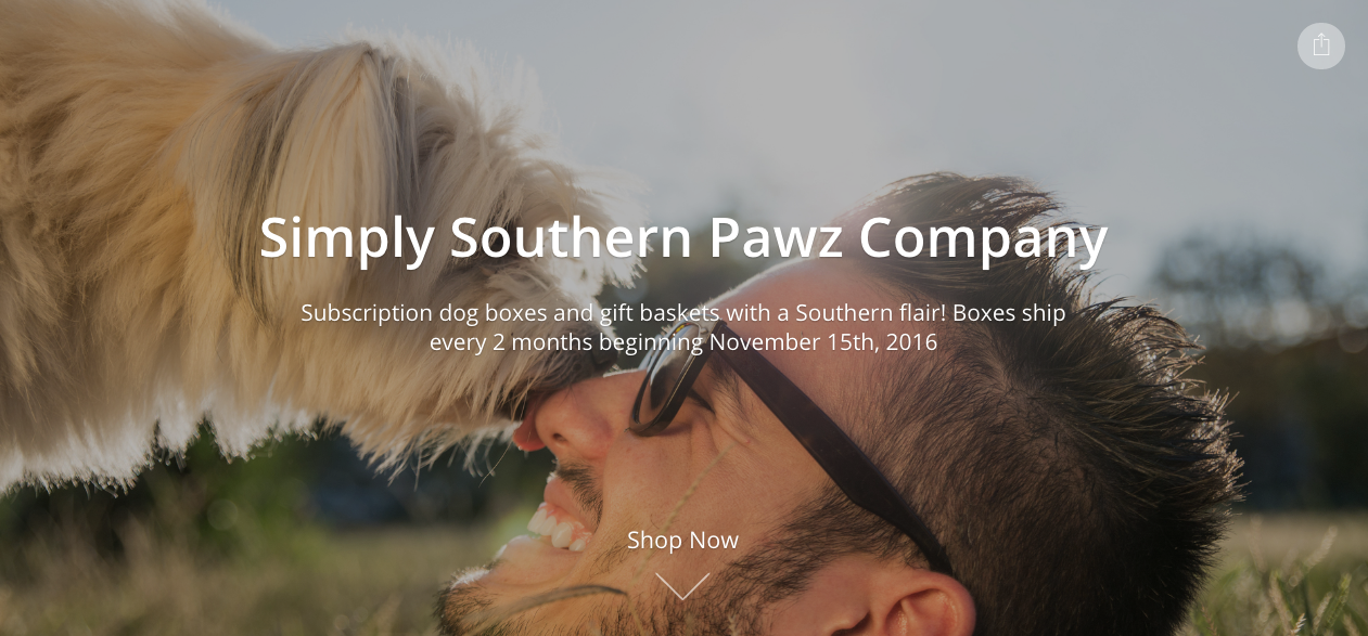 the new Simply Southern Pawz Site