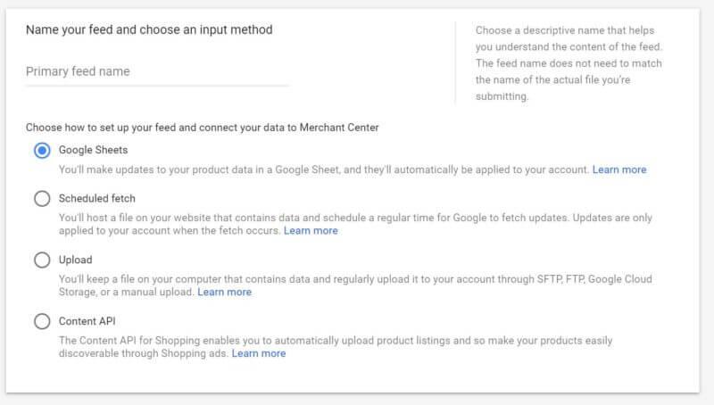 google-shopping-feed-upload-methods