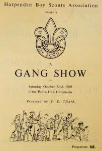 Gang Show Programme
