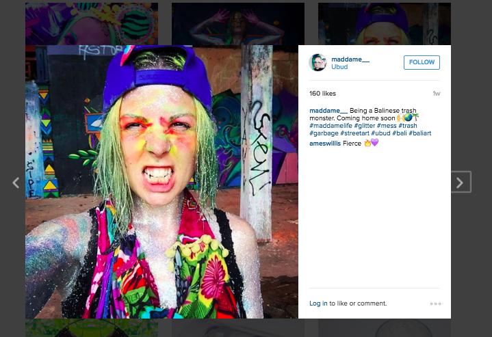 Gila Dame Ecwid toko menjual glitter tapi dia Instagram profile-sparkles dengan dirinya sendiri peristiwa, kerja, dan tutorials