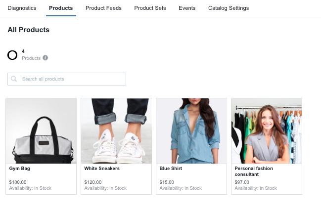 Facebook Générateur Catalogue produits