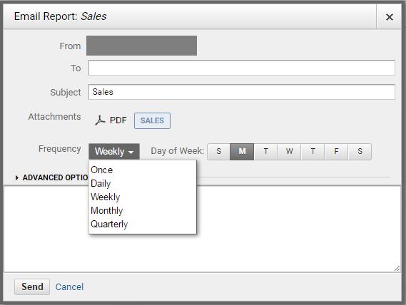 google analytics how to send a regular report