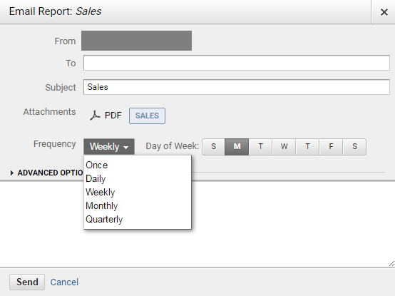 email report sales