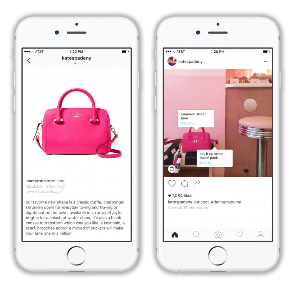 Shoppable messages Instagram