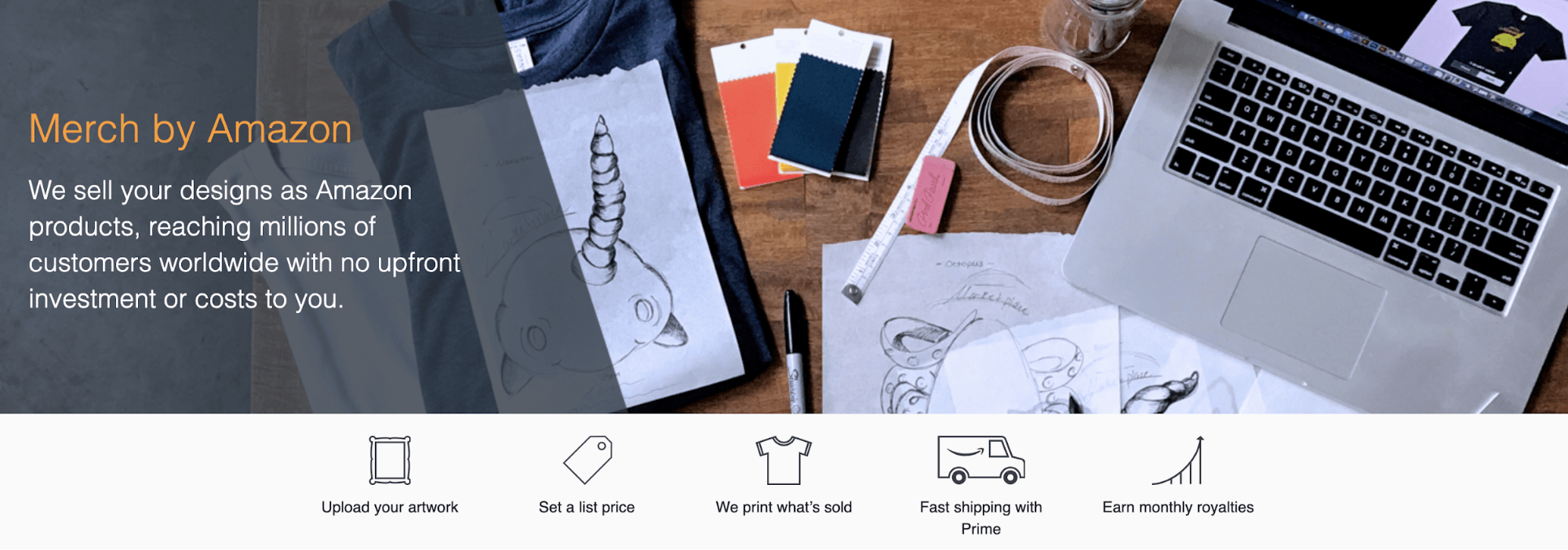 Sell your designs with AmazonMerch