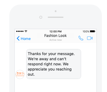 facebook messenger live chat away message