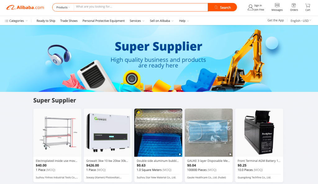 Find the suppliers for dropshipping on Alibaba
