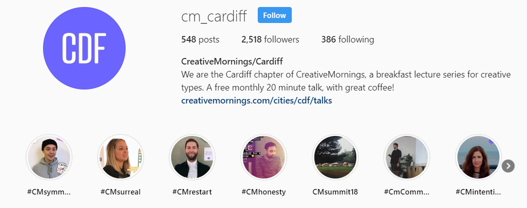 instagram profile for business