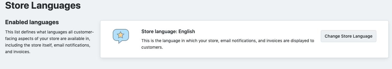 store language