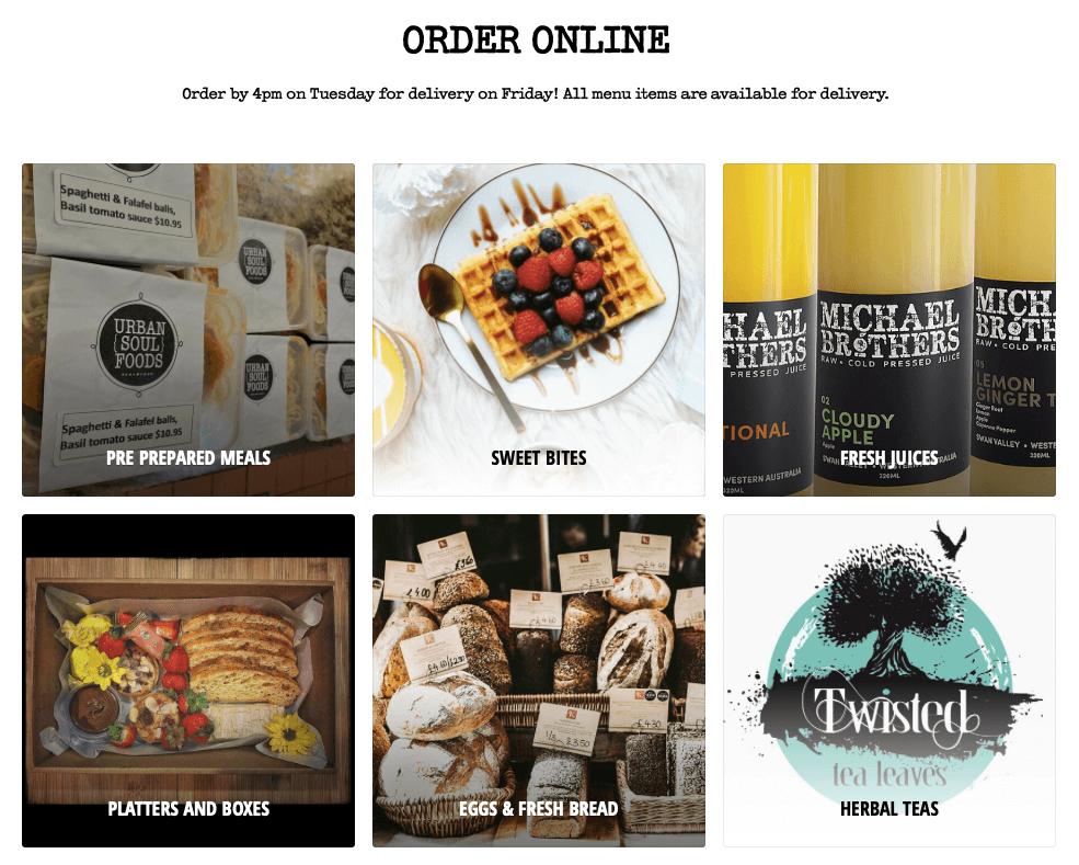 ecwid online ordering