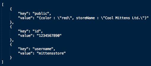 Merchant settings example