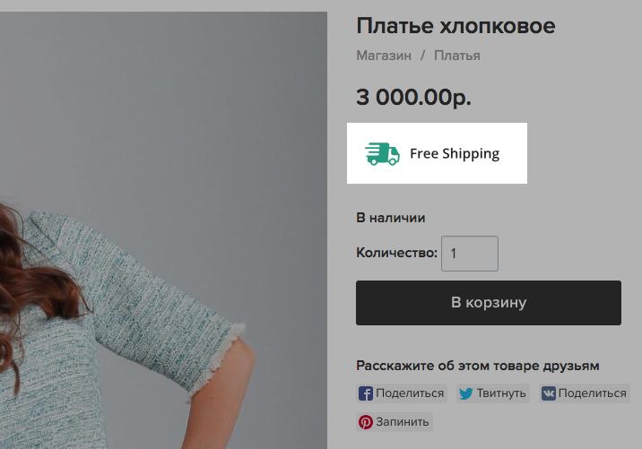 бесплатное приложение Free Shipping Icon