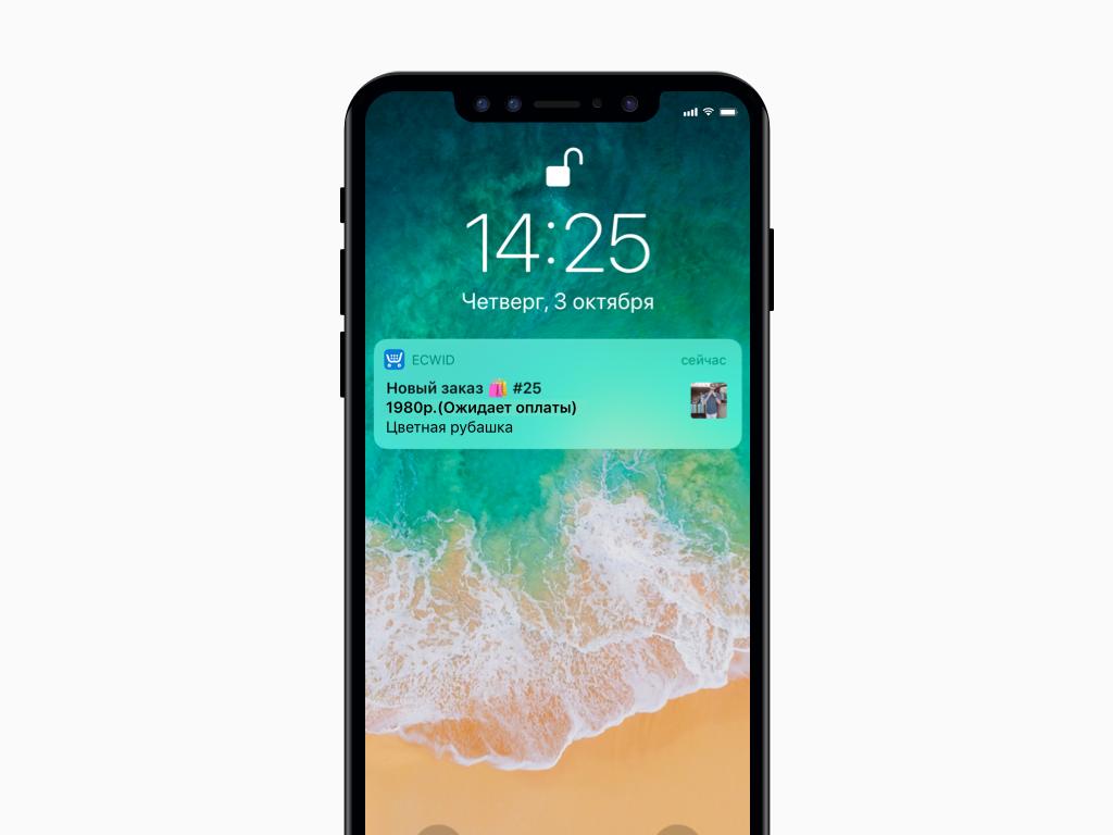 пуш-уведомление Эквида на iOS