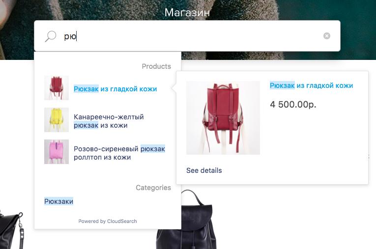 приложение CloudSearch