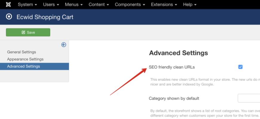Настройка новых адресов для сайта на Joomla