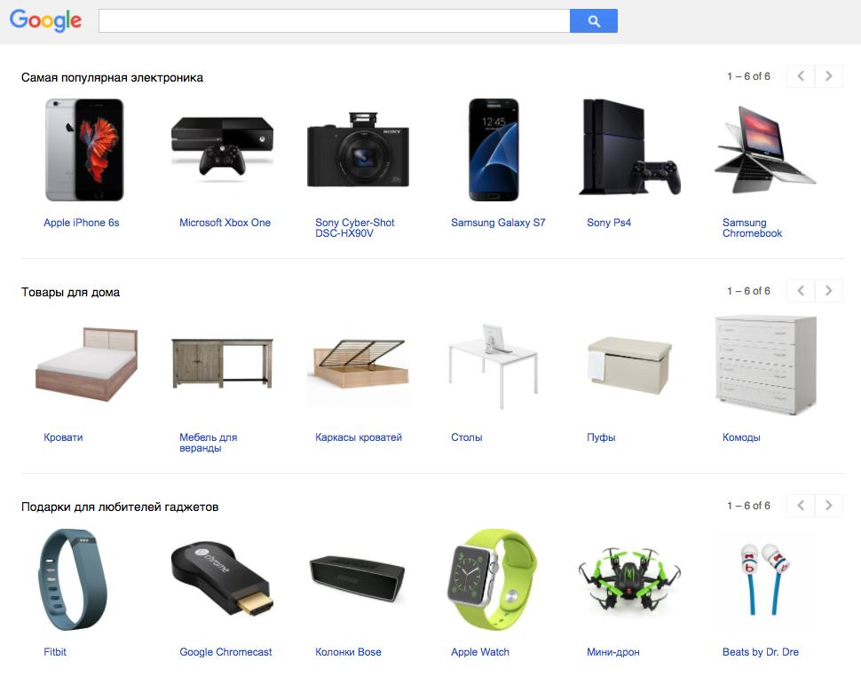 Торговля на Google Покупках