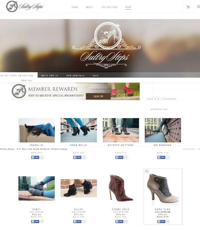 Интернет-магазин Sultry Steps