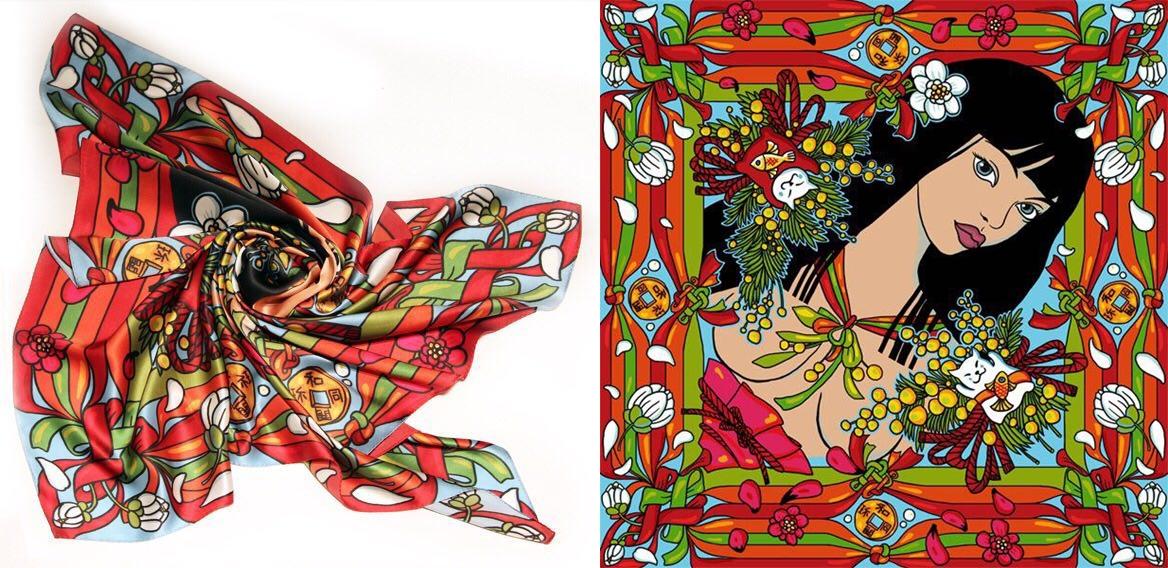 Шёлковый платок ― первый товар «Белолапика»