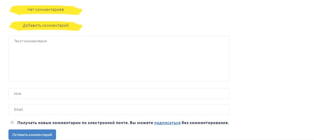Типичная форма комментирования на инфосайтах