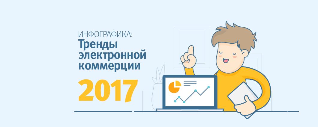 Инфографика: тренды интернет-торговли 2017 в России и мире