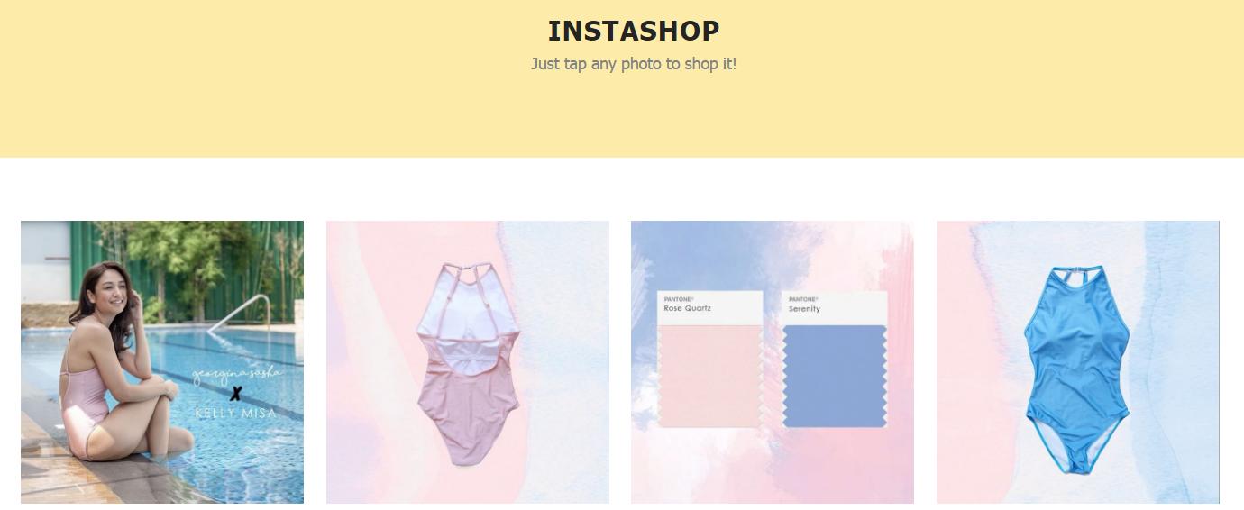 Отдельная страница «instashop» магазина Georgina Sasha