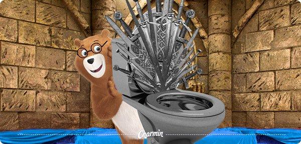 """Реклама туалетной бумаги Charmin, которую компания разместила в соцсетях к выходу финального сезона """"Игры престолов"""""""