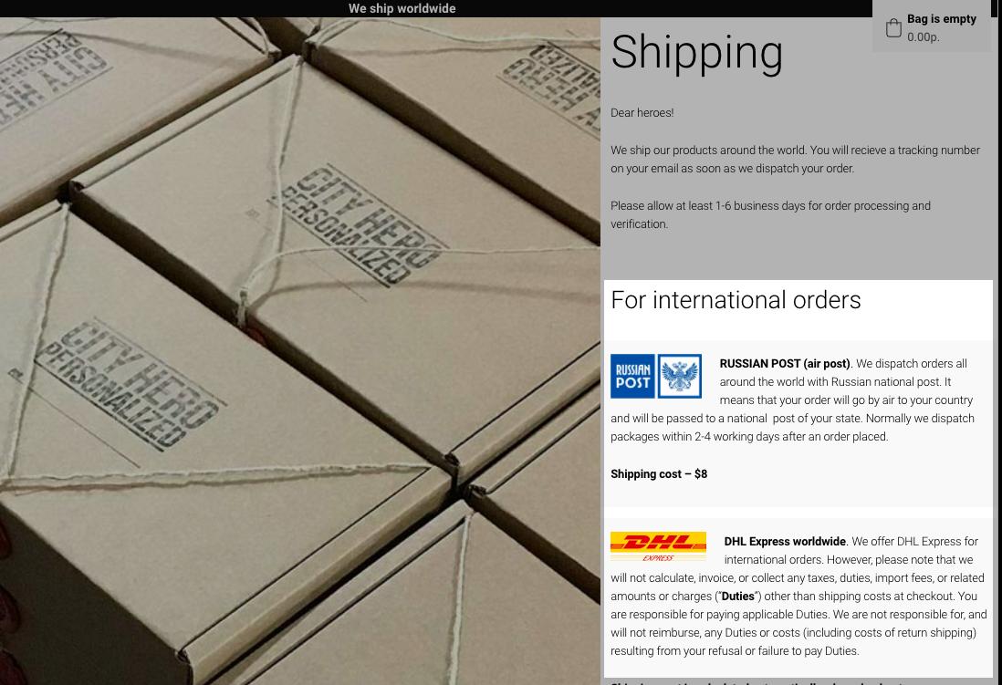 Пропишите на сайте условия доставке на отдельной странице или прямо на главной