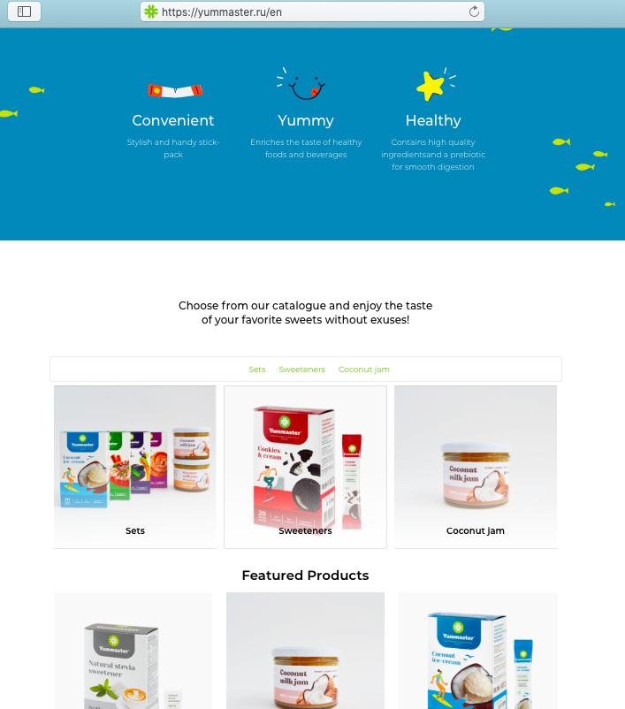 Витрина магазина показывается на английском, если язык браузера у пользователя — английский