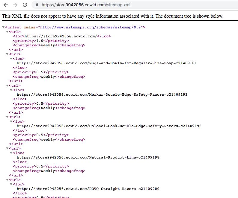 Чтобы посмотреть свой Sitemap, в адресной строке браузера после домена добавьте «/sitemap.xml»