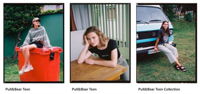 Чтобы профиль был оформлен в одном стиле, Pull&Bear использует одинаковые рамки для фото