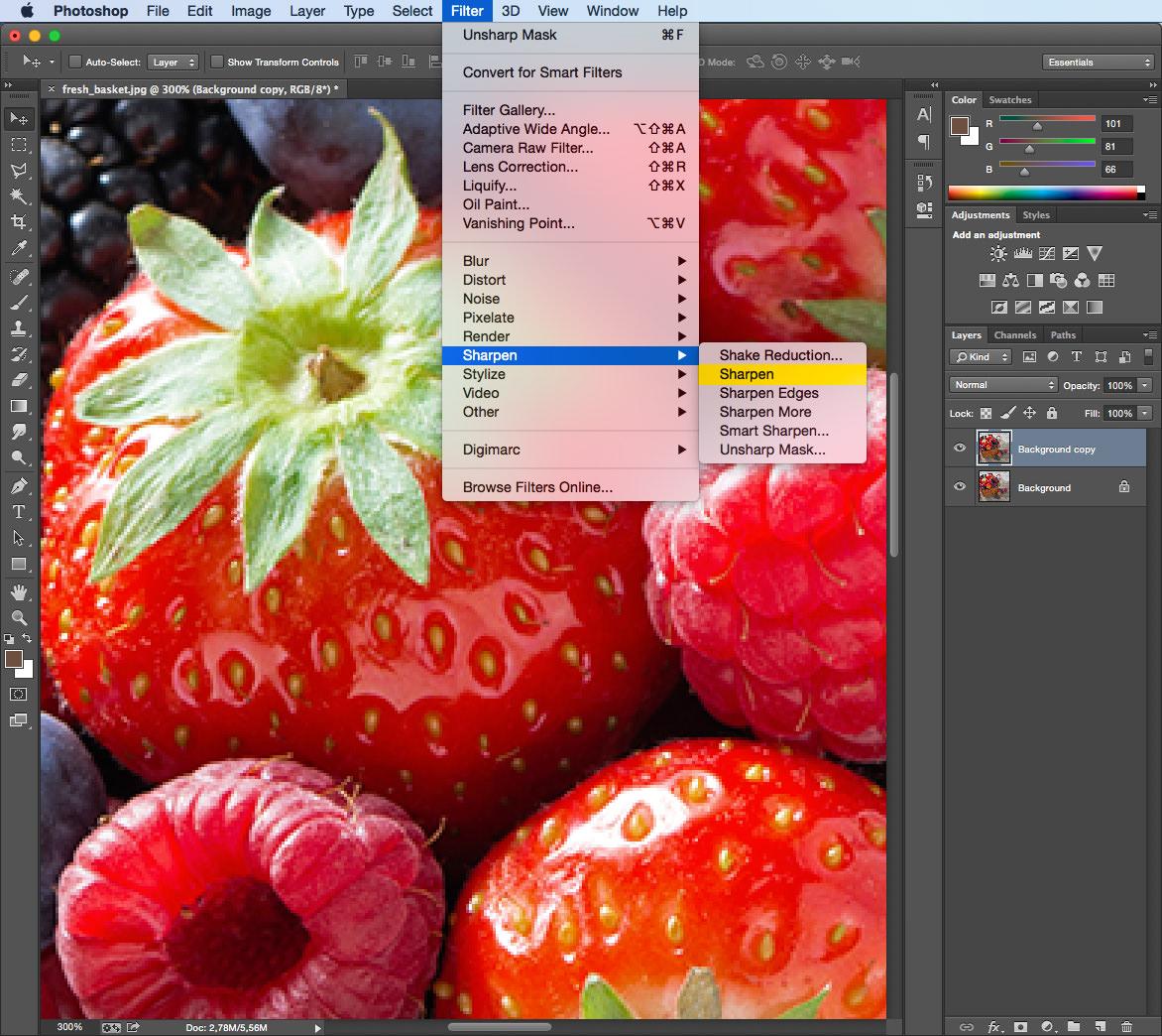 Как увеличить фото в Фотошопе без потери качества 99