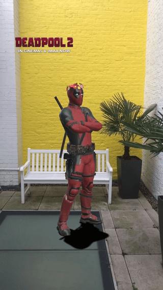 """Перед премьерой """"Дэдпула 2"""" Fox сделали маску с главным героем фильма"""