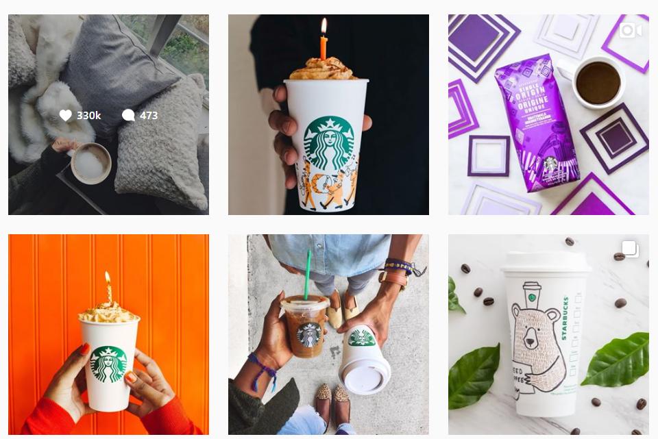 Starbucks разбавил минималистичное оформление яркими красками