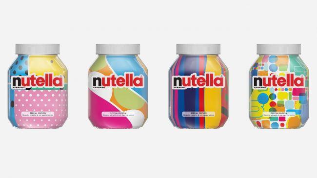 Новая экспериментальная упаковка Nutella в стиле 80-х