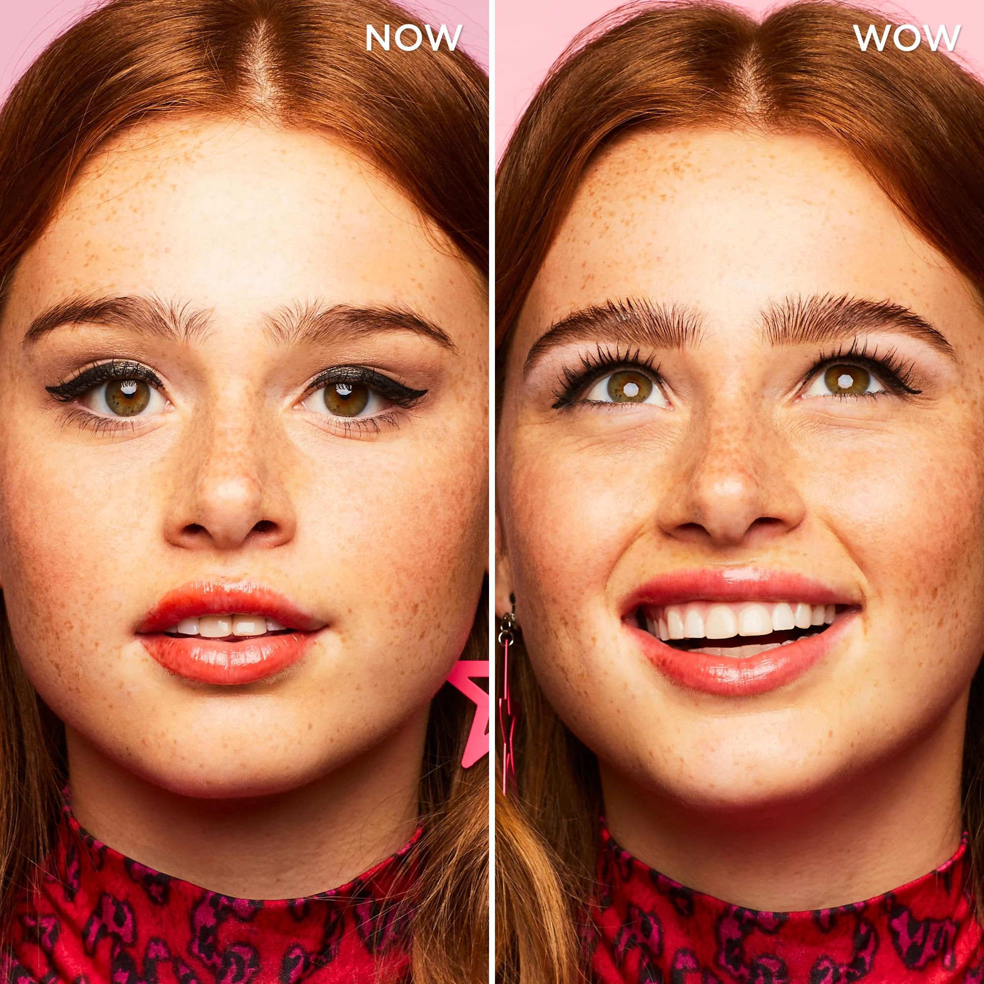 Брови до и после использования косметического средства