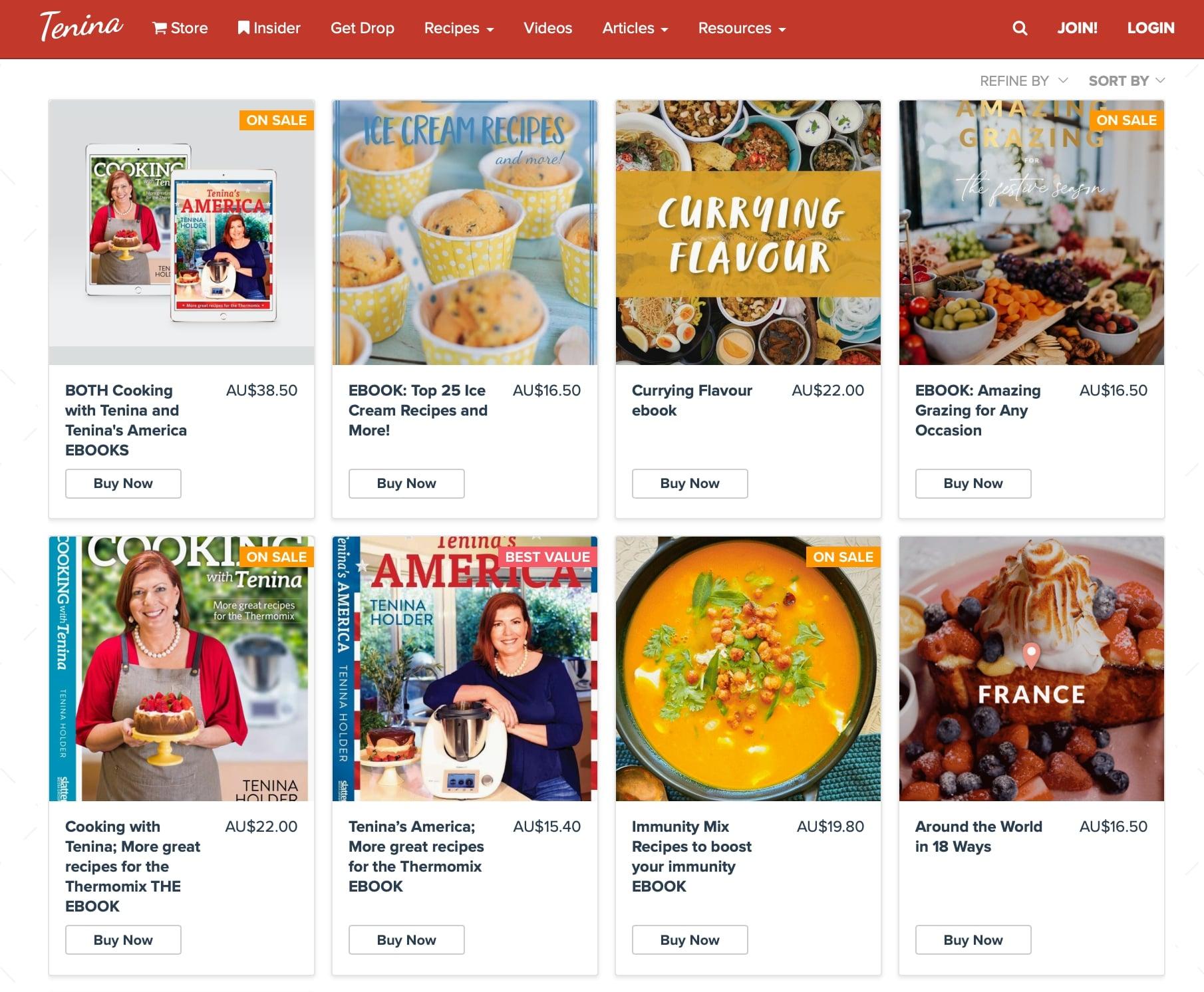 Tenina Holder vende e-book nel suo negozio online.