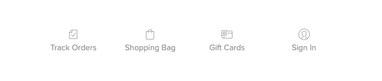 This is a screenshot of Ecwid store footer menu with a gift card link. Selling gift cards is easier when customers can easily find your gift card regardless of what store page they landed on.