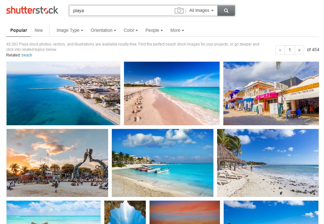 shutterstock playa photos
