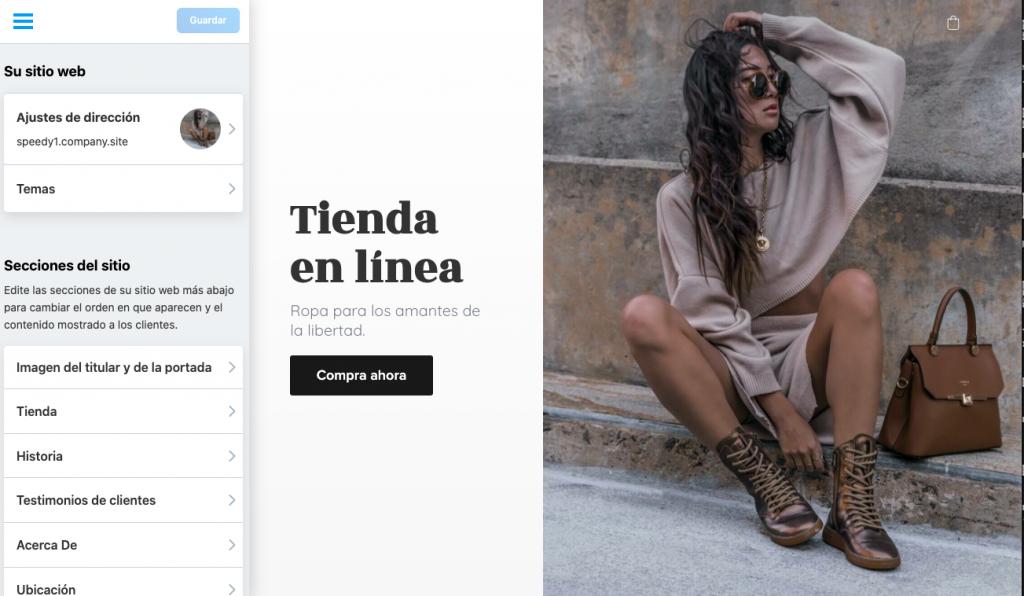 Edite su Instant Site en cualquier momento para mantener su apariencia y su contenido actualizados.