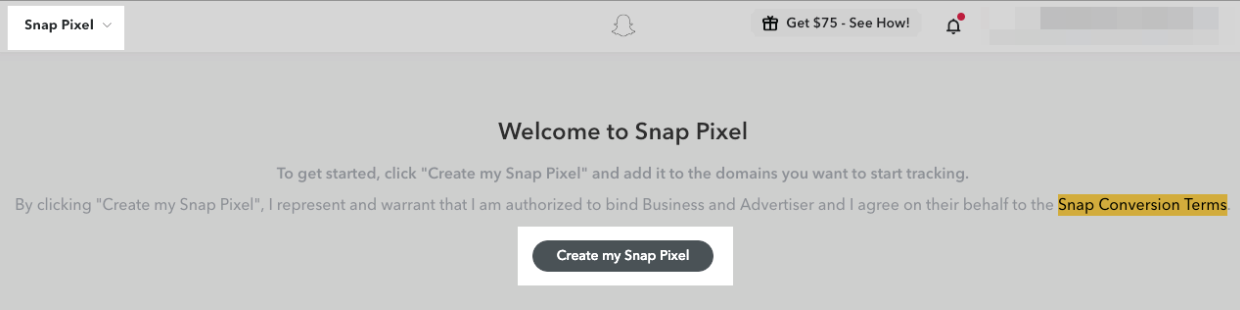 create snap pixel