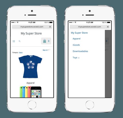 Starter Site auf dem iPhone