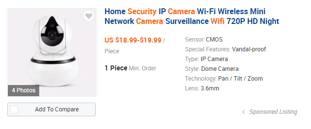 wifi security camera ali baba